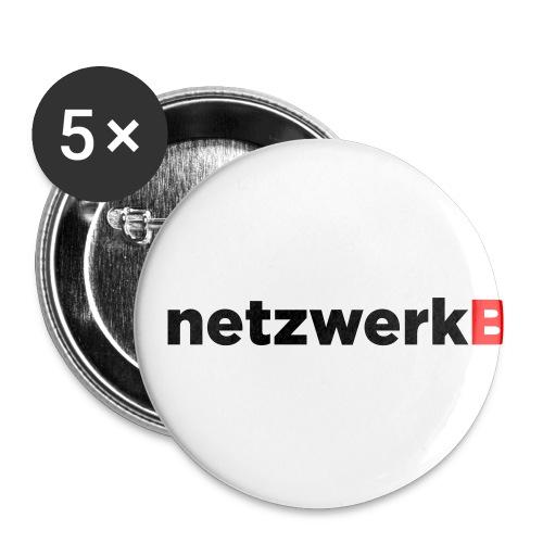 netzwerkb - Buttons klein 25 mm (5er Pack)