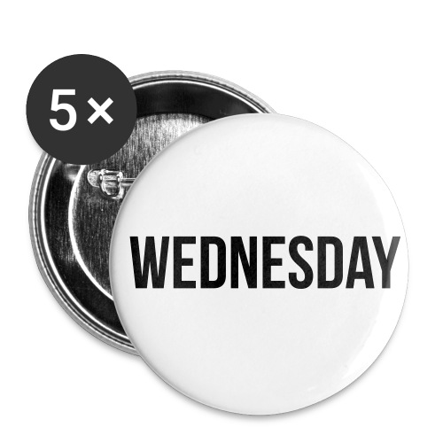 Wednesday - Buttons small 1''/25 mm (5-pack)