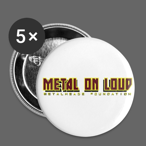 MOL Letter Logo Randy - Buttons small 1''/25 mm (5-pack)