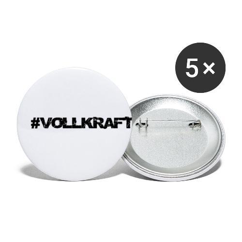 Schriftzug Vollkraft - Buttons klein 25 mm (5er Pack)