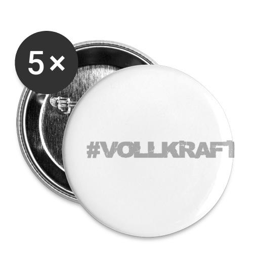 Vollkraft Schriftzug grau - Buttons klein 25 mm