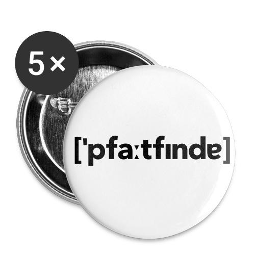 Lautschrift Pfadfinder - Buttons klein 25 mm
