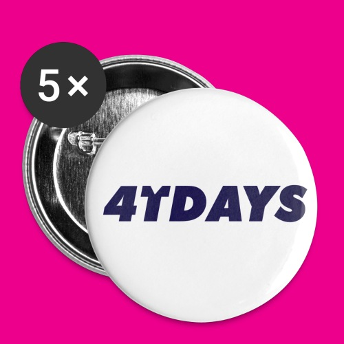 Original 4tdays logo - Buttons klein 25 mm (5-pack)