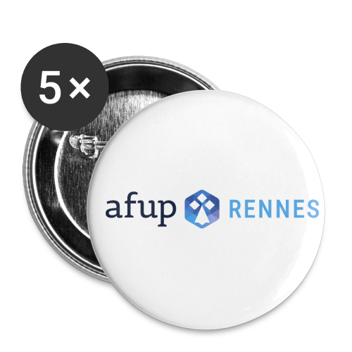 AFUP Rennes - Lot de 5 petits badges (25 mm)