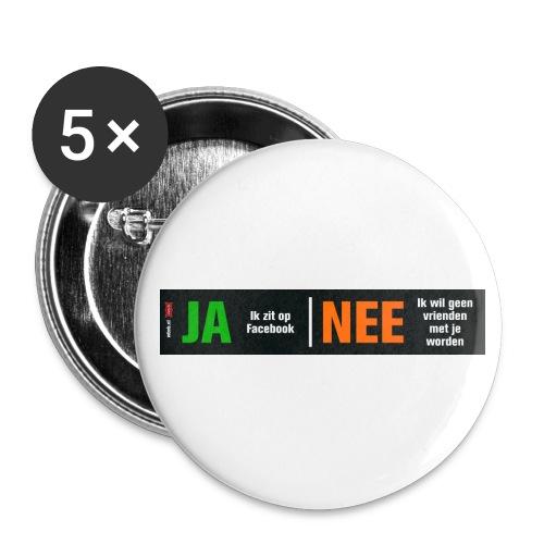 facebookvrienden - Buttons klein 25 mm (5-pack)