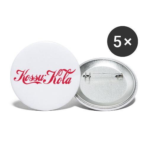 Suomen kansallisjuoma Kossu-Kola - Rintamerkit pienet 25 mm (5kpl pakkauksessa)