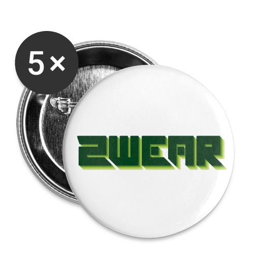 2wear box logo - Buttons/Badges lille, 25 mm (5-pack)