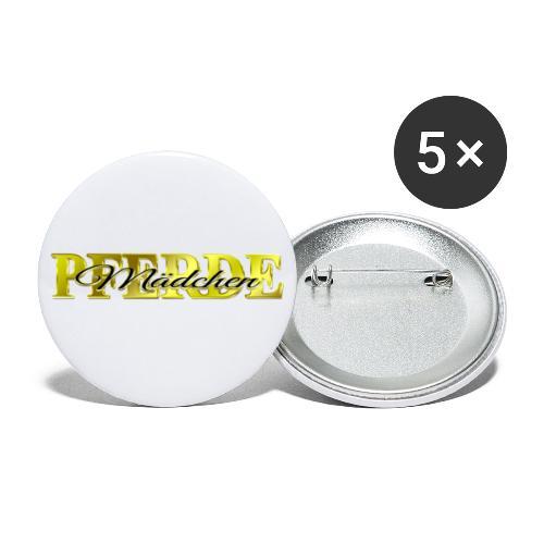 Pferdemädchen Reiten Pferd Geschenkidee - Buttons klein 25 mm (5er Pack)