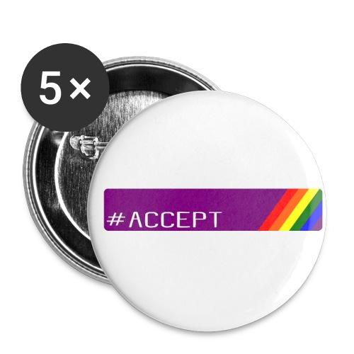 79 accept - Buttons klein 25 mm (5er Pack)