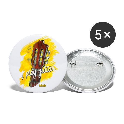 I play guitar - limited edition '19 - Buttons klein 25 mm (5er Pack)