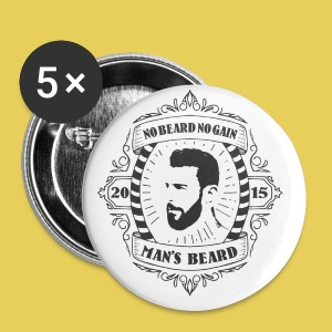No Beard No Pain - Badge petit 25 mm
