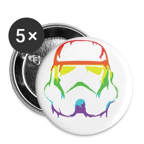Pride Trooper - simple - Rintamerkit pienet 25 mm (5kpl pakkauksessa)