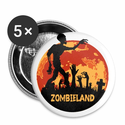 Zombieland Halloween Design - Buttons klein 25 mm (5er Pack)