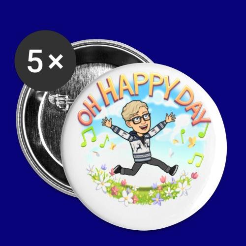 Happy Day - Liten pin 25 mm (5-er pakke)