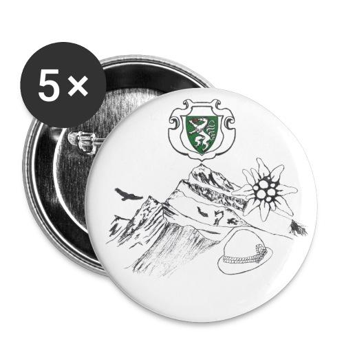 Steirische Heimat - Buttons klein 25 mm (5er Pack)