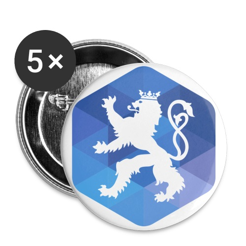 AFUP Luxembourg - Lot de 5 petits badges (25 mm)