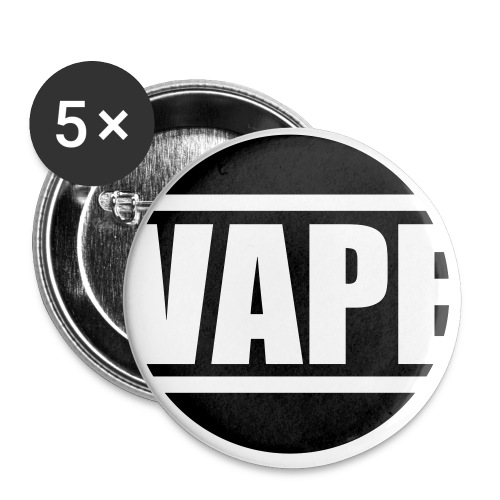 tshirt vape rond 1 exp - Lot de 5 petits badges (25 mm)