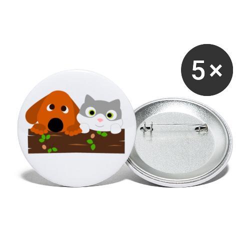 Hund & Katz - Buttons klein 25 mm (5er Pack)