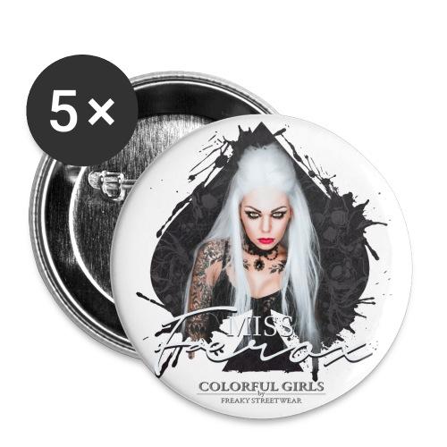 Miss Ferox - Buttons klein 25 mm (5er Pack)