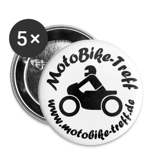 Logo Black png - Buttons klein 25 mm (5er Pack)