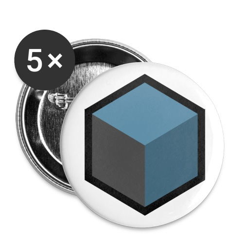 Cube B png - Buttons small 1''/25 mm (5-pack)