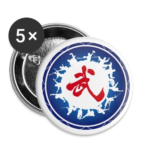 wu2 - Lot de 5 petits badges (25 mm)