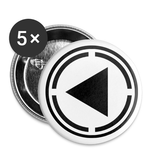black logo last time - Buttons small 1''/25 mm (5-pack)