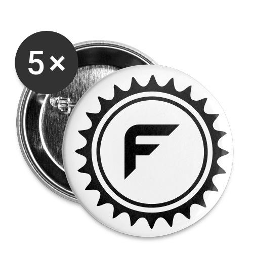 Logo Hoody - Buttons klein 25 mm (5er Pack)