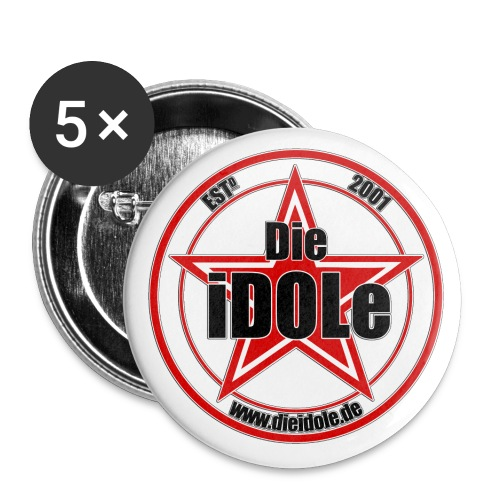 iDOLe Logo Stern clean - Buttons klein 25 mm (5er Pack)