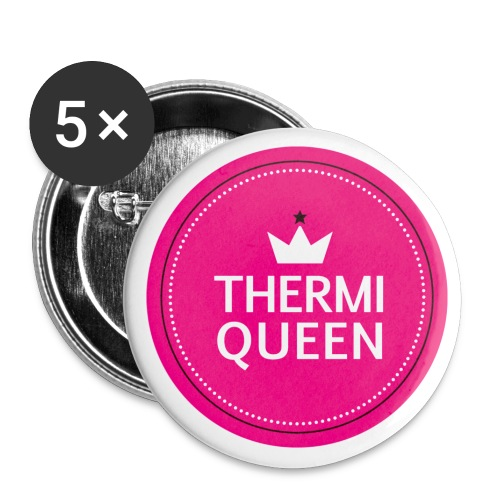 Logo Thermiqueen Final CMYK png - Buttons klein 25 mm (5er Pack)