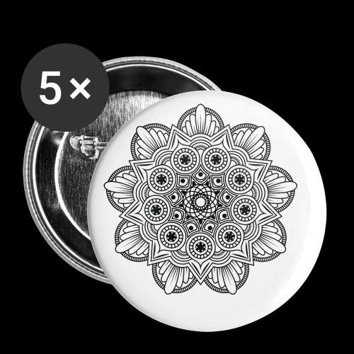 Mandala - Confezione da 5 spille piccole (25 mm)
