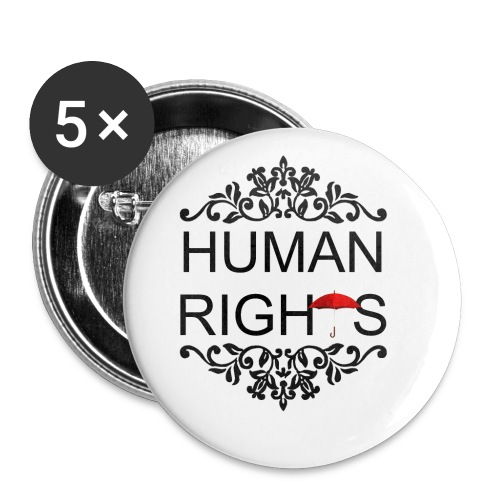 human - Buttons small 1''/25 mm (5-pack)