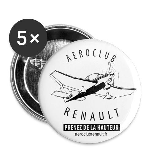 aeroclub clair - Lot de 5 petits badges (25 mm)