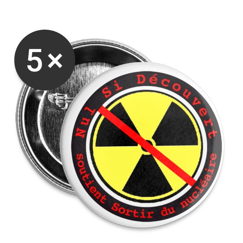 nsd sortir nucleaire - Lot de 5 petits badges (25 mm)