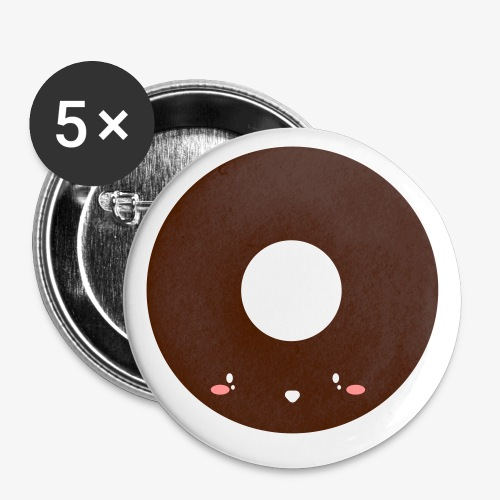 Happy Doughnut - Buttons small 1''/25 mm (5-pack)