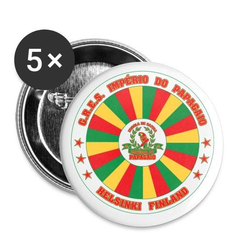 Papagaio drum logo - Rintamerkit pienet 25 mm (5kpl pakkauksessa)