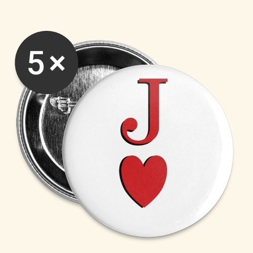 Valet de trèfle - Jack of Heart - Reveal - Lot de 5 petits badges (25 mm)