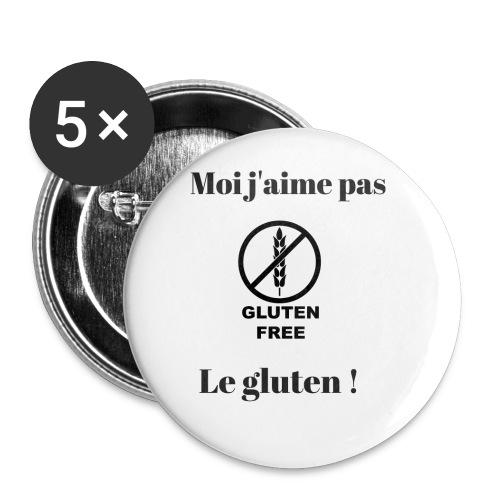 Moi j'ai pas le gluten - Lot de 5 petits badges (25 mm)