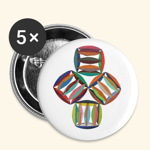 square2square - Buttons klein 25 mm (5-pack)