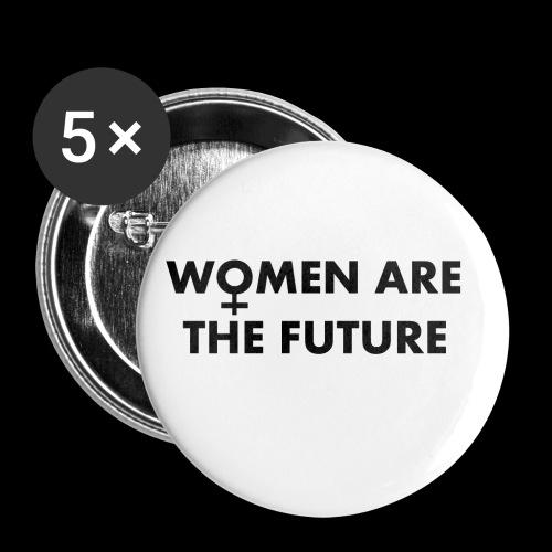 women are the future - Przypinka mała 25 mm (pakiet 5 szt.)