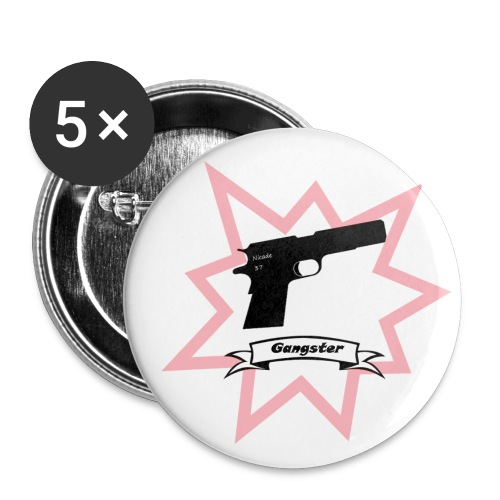 Gun with boom! - Buttons small 1''/25 mm (5-pack)