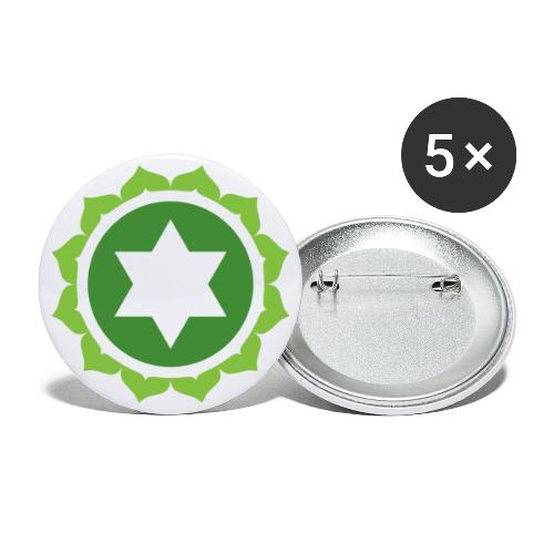 The Heart Chakra, Energy Center Of The Body - Buttons small 1''/25 mm (5-pack)