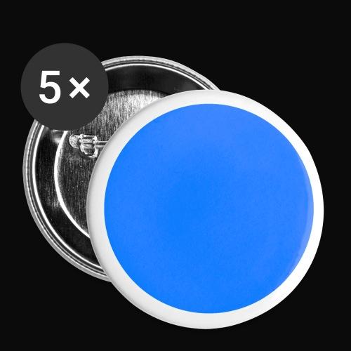 Hellblau - Buttons klein 25 mm (5er Pack)