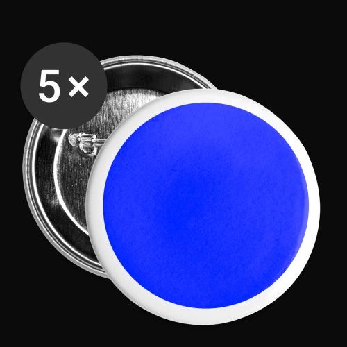 Anstecknadel - Blauer Punkt - Buttons klein 25 mm (5er Pack)