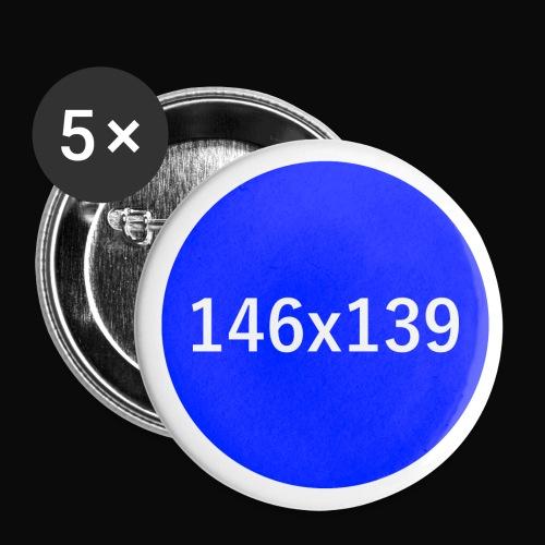 Endnazifizierungs-Anstecker, dunkelblau - Buttons klein 25 mm (5er Pack)