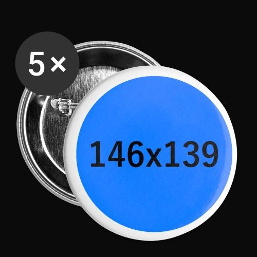 Blauer Punkt - GG 146 x 139 - Buttons klein 25 mm