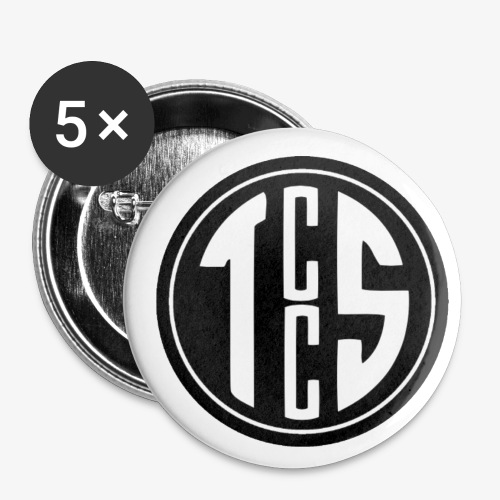 TCCS Logo - Buttons small 1''/25 mm (5-pack)