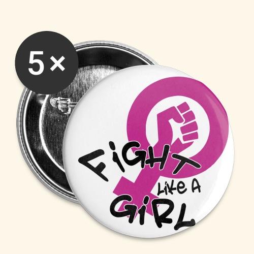 FIGHT LIKE A GIRL - Paquete de 5 chapas pequeñas (25 mm)