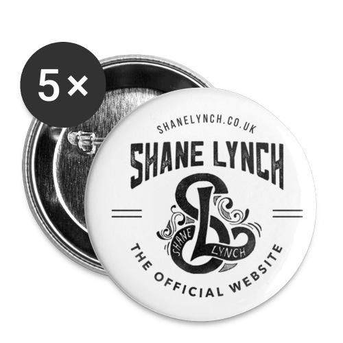 Black - Shane Lynch Logo - Buttons small 25 mm