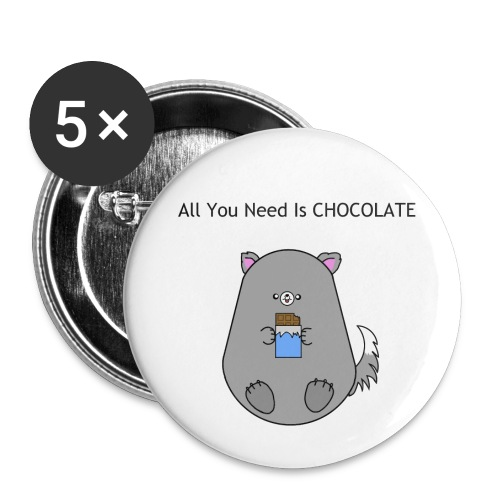 All you need is Chocolate - Små knappar 25 mm (5-pack)